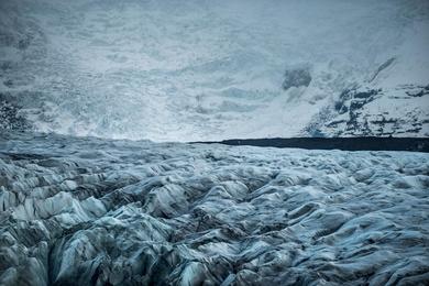 The Ice Falls of Svinafellsjökull