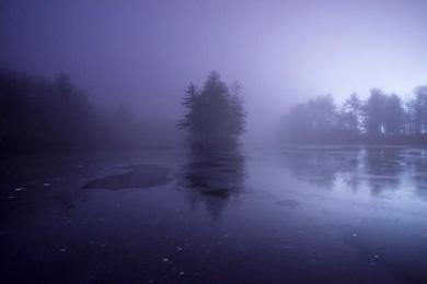 Misty Morning on Lake Groton