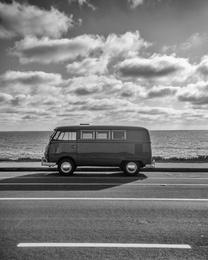 Surf Awaits - Black and White