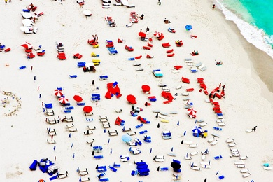 South Beach Aerial, Red and Blue