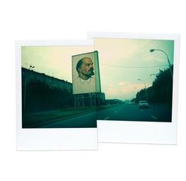 Lenin on Billboard, Moscow 1975