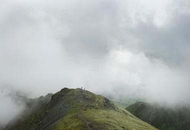 Hiker in Hatcher's Pass
