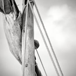 Mast and Sail of Dhow, Zanzibar