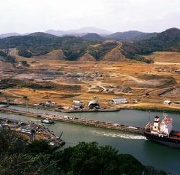 Panama Canal From Cerro Luisa