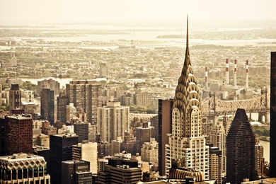Chrysler Building and New York City Skyline