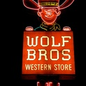 Wolf Bros Western Store, Night
