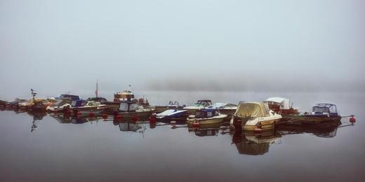 Misty Morning Boat Dock