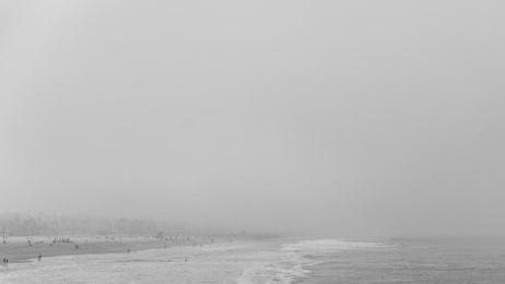 Beach Amongst the Fog - Santa Monica