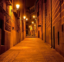 Narrow Alley, Madrid, Spain