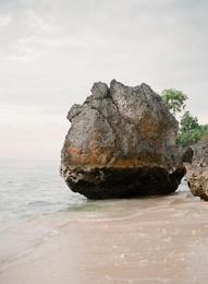 Beach Boulder, Bali, Indonesia